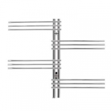 Bathroom Butler - Loft Duo Wide Heated Towel Rail 12 Bar PTS Polished Stainless Steel