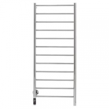 Bathroom Butler - Natural Straight Heated Towel Rail 12 Bar TDC Polished Stainless Steel