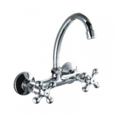 Comap - Sigma Sink Mixer Wall-Mounted 2-Handle Chrome