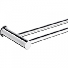 Pearl Double Rail 600mm Polished Stainless Steel