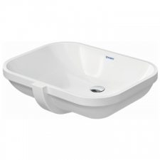 Duravit - D-Code Vanity Undercounter Basin with Overflow 585x455mm White Alpin