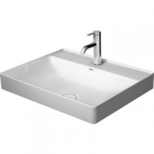 Duravit - DuraSquare Above Counter Basin 1 Tap Hole Punched 600x470mm White Alpin