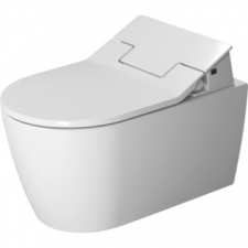 Duravit - ME by Starck Rimless Wall-Hung Pan 370x570mm Durafix With WonderGliss White Alpin