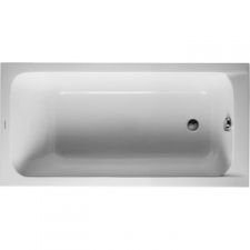Duravit - D-Code Bathtub Built-In Rectangle with One Backrest Slope 1600x700mm White Alpin