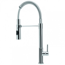 Franke - Flexus Professional Sink Mixer with Retractable Hose Spout with 2x Shut Off Valves Chrome