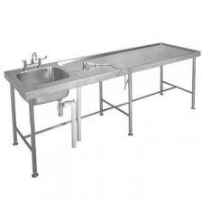Franke - Model MTS Post Mortem Table & Sink Bowl 2565x765x900mm Stainless Steel