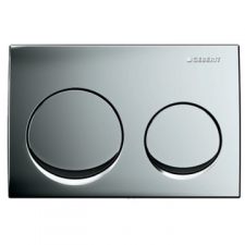 Geberit actuator plate Alpha10 for dual flush: matt chrome-plated