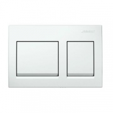 Geberit actuator plate Alpha15 for dual flush: white alpine