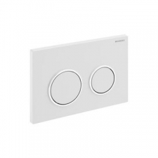 Geberit actuator plate Omega20 for dual flush: white, bright chrome-plated