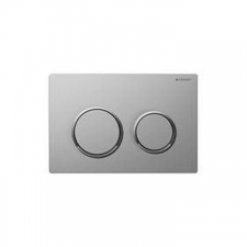 Geberit actuator plate Omega20 for dual flush: matt chrome-plated, bright chrome-plated