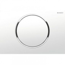 Geberit actuator plate Sigma10 for stop-and-go flush: white, bright chrome-plated