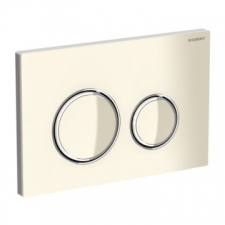 Geberit - Sigma21 Actuator Plate for Dual Flush Sand Grey Bright Chrome
