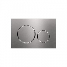 Geberit actuator plate Sigma20 for dual flush, screwable: brushed, easy-to-clean coated, polished