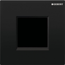 Geberit urinal flush control with electronic flush actuation, mains operation, cover plate type 30: jet black RAL 9005