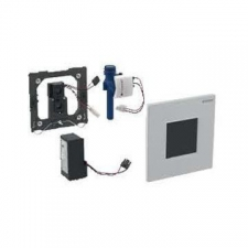 Geberit urinal flush control with electronic flush actuation, mains operation, cover plate type 30: matt chrome-plated