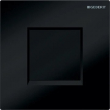 Geberit urinal flush control with electronic flush actuation, battery operation, cover plate type 30: jet black RAL 9005