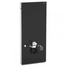 Geberit Monolith sanitary module for wall-hung WC, 114 cm: black / glass