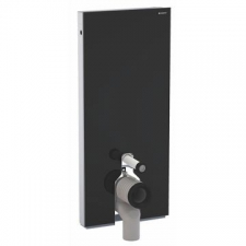 Geberit Monolith sanitary module for floor-standing WC, 114 cm: black / glass