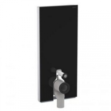 Geberit Monolith Plus sanitary module for floor-standing WC, 101 cm: black / glass