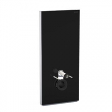 Geberit Monolith Plus sanitary module for wall-hung WC, 101 cm: black / glass