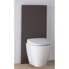 Geberit Monolith Plus sanitary module for wall-hung WC, 101 cm: umber / glass