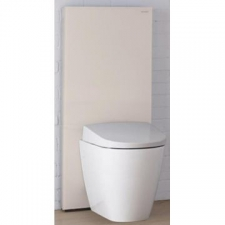 Geberit Monolith Plus sanitary module for wall-hung WC, 101 cm: sand / glass