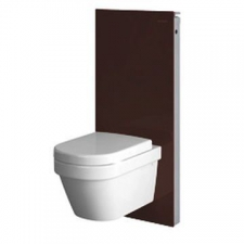 Geberit Monolith Plus sanitary module for wall-hung WC, 114 cm: umber / glass