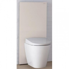 Geberit Monolith Plus sanitary module for wall-hung WC, 114 cm: sand / glass