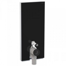 Geberit Monolith Plus sanitary module for floor-standing WC, 114 cm: black / glass