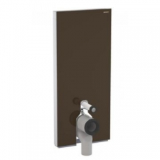 Geberit Monolith Plus sanitary module for floor-standing WC, 114 cm: umber / glass