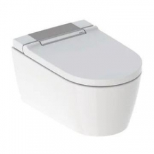 Geberit AquaClean Sela WC complete solution, wall-hung WC: white alpine