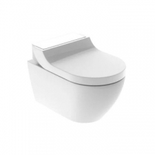 Geberit AquaClean Tuma Comfort WC complete solution, wall-hung WC: white / glass