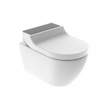 Geberit AquaClean Tuma Comfort WC complete solution, wall-hung WC: black / glass