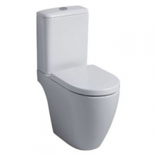 Geberit iCon floor-standing WC for close-coupled exposed cistern, washdown, shrouded, Rimfree: T=63.5cm, white