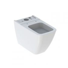 Geberit iCon Square floor-standing WC for close-coupled exposed cistern, washdown, back-to-wall, shrouded: T=63.5cm, white