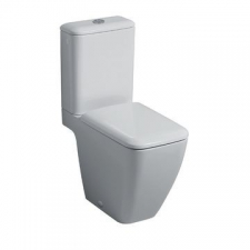 Geberit iCon Square floor-standing WC for close-coupled exposed cistern, washdown, shrouded, Rimfree: T=63.5cm, white
