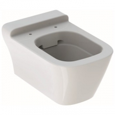 Geberit myDay wall-hung WC, washdown, shrouded, Rimfree: T=54cm, white / KeraTect