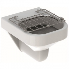 Geberit Publica slop hopper with hinged grating: B=40cm, H=37cm, T=49cm