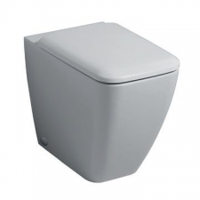 Geberit iCon Square floor-standing WC, washdown, back-to-wall, shrouded, Rimfree: T=56cm, white