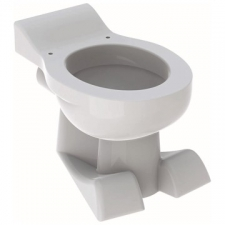 Geberit Bambini floor-standing WC for children, washdown, lion paw design, for WC seat: T=50cm, white