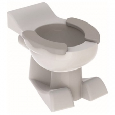 Geberit Bambini floor-standing WC for children, washdown, lion paw design, with seat pads: T=50cm, white, agate grey
