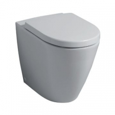 Geberit iCon floor-standing WC, washdown, back-to-wall, shrouded, Rimfree: T=56cm, white