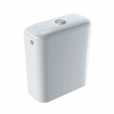 Geberit iCon exposed cistern, close-coupled, dual flush, lateral or bottom water supply connection: white