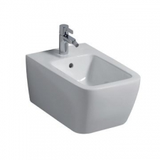 Geberit iCon Square wall-hung bidet, shrouded: T=54cm, Overflow=visible, white