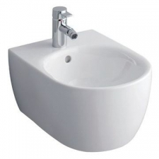 Geberit iCon wall-hung bidet, shrouded: T=54cm, Overflow=visible, white