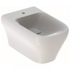 Geberit myDay wall-hung bidet, shrouded: T=54cm, Overflow=without, white / KeraTect