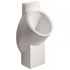 Geberit urinal Centaurus, waterless, outlet to the rear or downwards: T=32.5cm, Outlet=to the rear or downwards, white / KeraTect