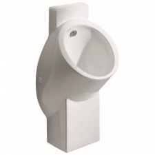 Geberit urinal Centaurus, hybrid operation, inlet from the rear, outlet to the rear or downwards: T=32.5cm, Outlet=to the rear or downwards, Inlet=rear, white / KeraTect