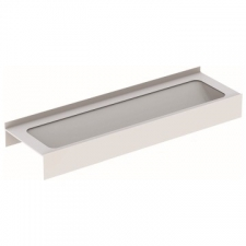 Geberit Publica washing trough: B=187.6cm, T=55.5cm, Tap hole=without, Overflow=without, white alpine