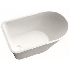 Geberit Bambini asymmetrical bathtub: B=47cm, white alpine